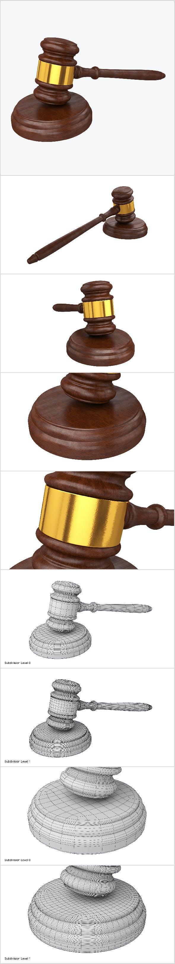 Judge Gavel - 3DOcean Item for Sale