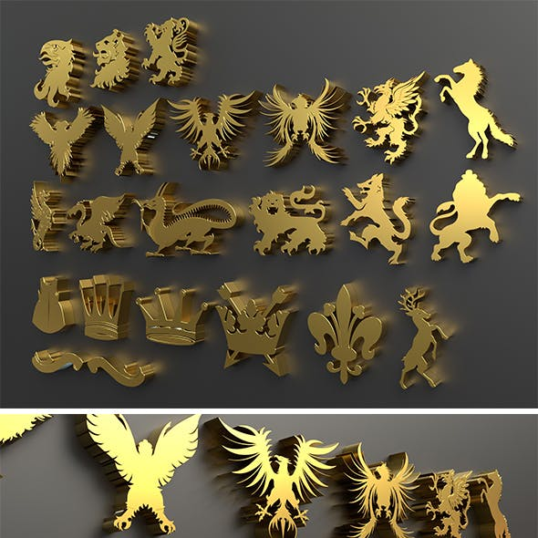 Heraldry Package 3D model