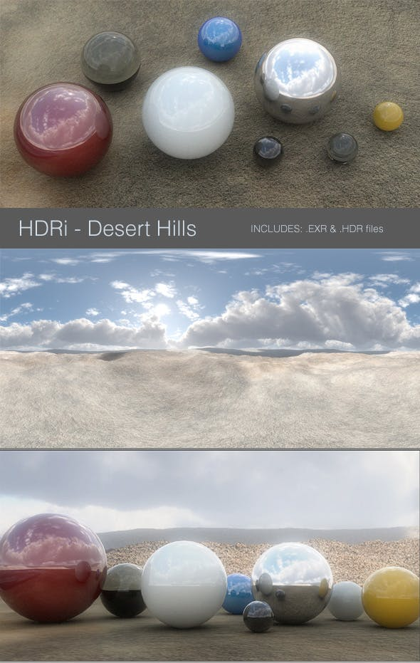 HDRi - Desert Hills - 3DOcean Item for Sale