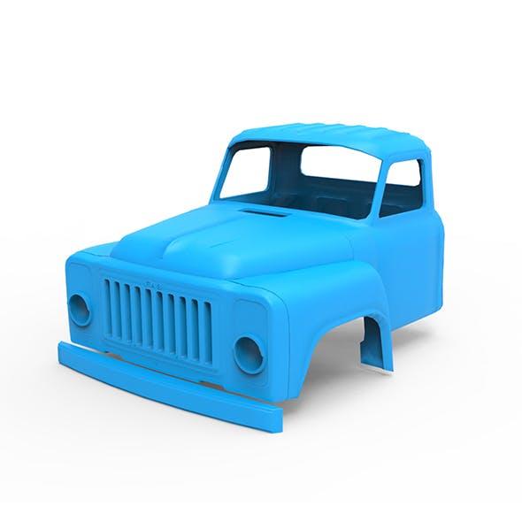 GAZ-53 Cabin 3D Printing Model