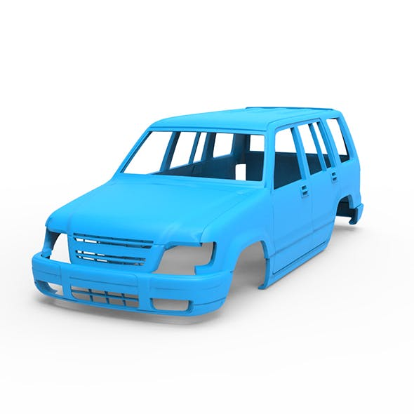 Isuzu trooper 3D Printing Model