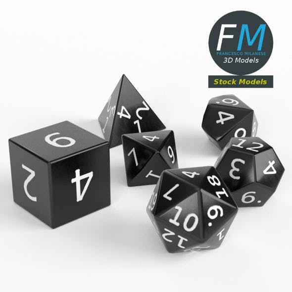 RPG dice set - 3DOcean Item for Sale