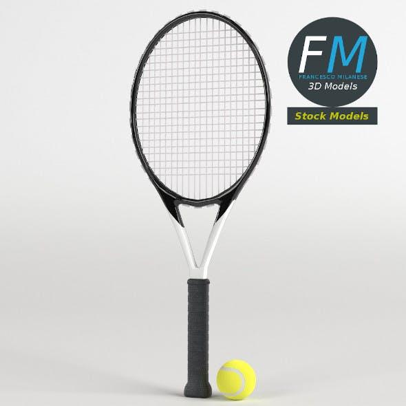 Tennis ball and racket set