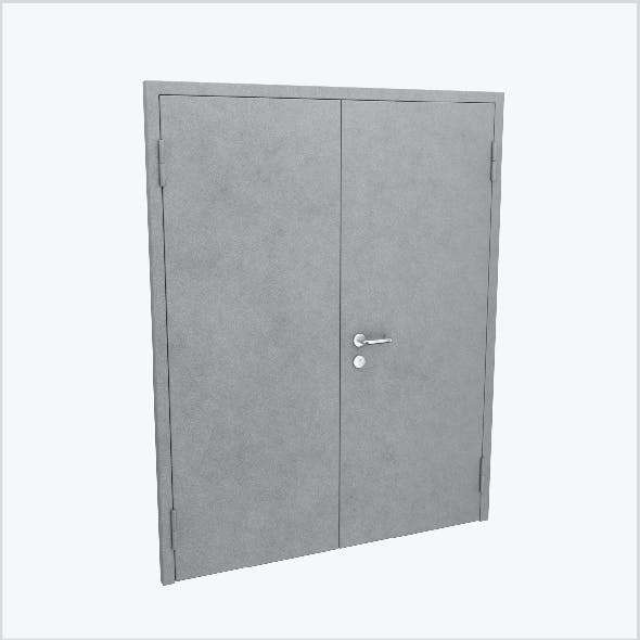 Double metal door