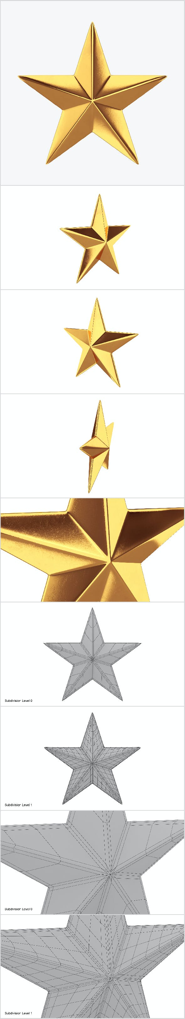 Gold star - 3DOcean Item for Sale