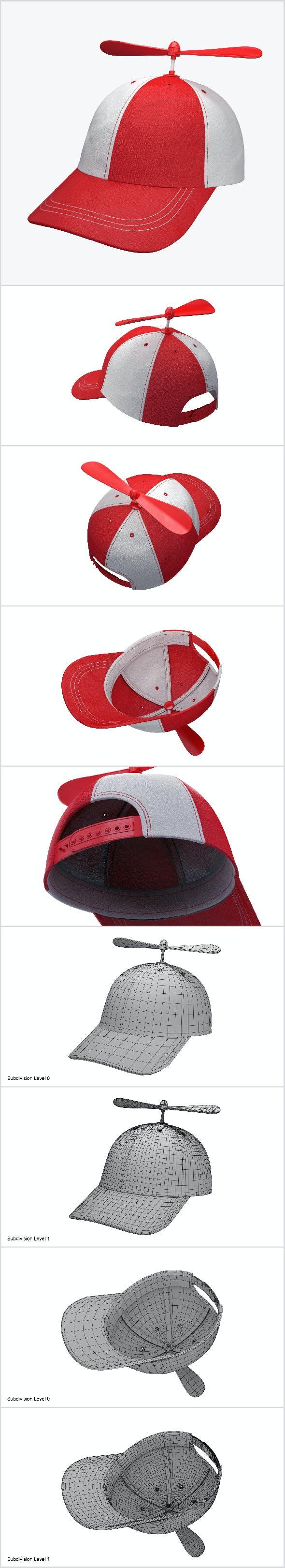 Propeller hat - 3DOcean Item for Sale