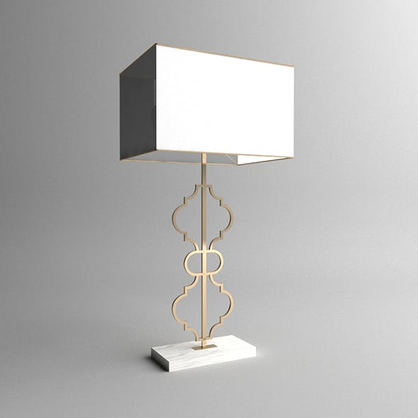 Arabesque Table Lamp By Mayaalsoufi, Square Marble Base Table Lamp