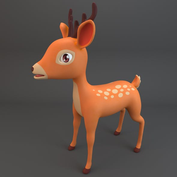 Cartoon Deer - 3DOcean Item for Sale