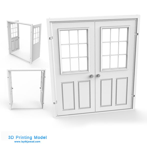 Internal Door 3D Printing Model - 3DOcean Item for Sale