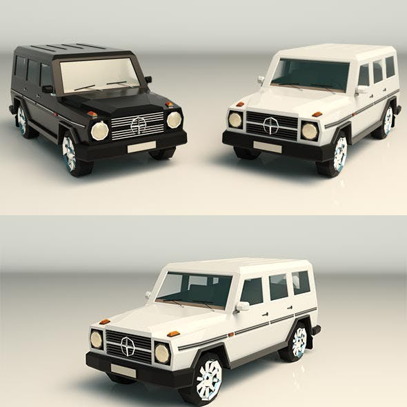 Low Poly SUV 03