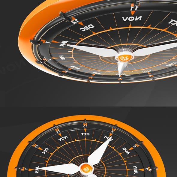 Montage Clock