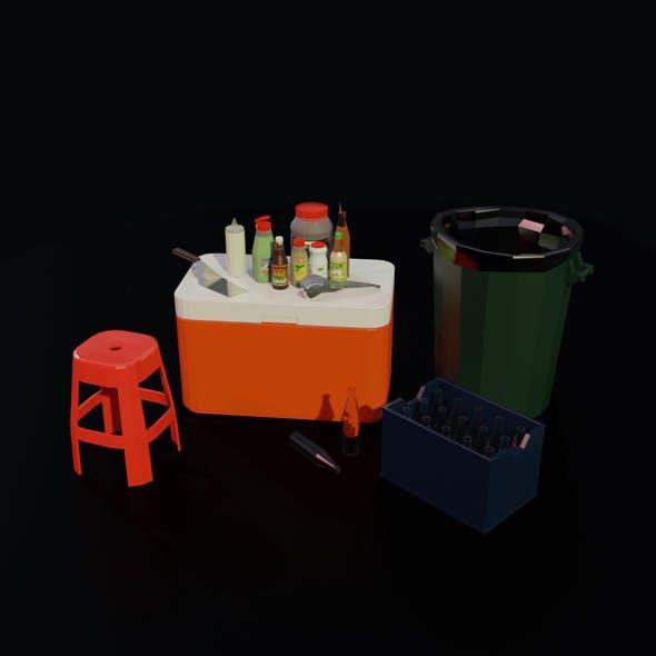 Hot Dog Street Food equipment - 3DOcean Item for Sale