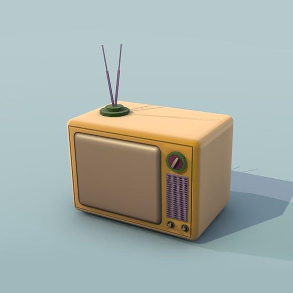 Retro TV Low Poly