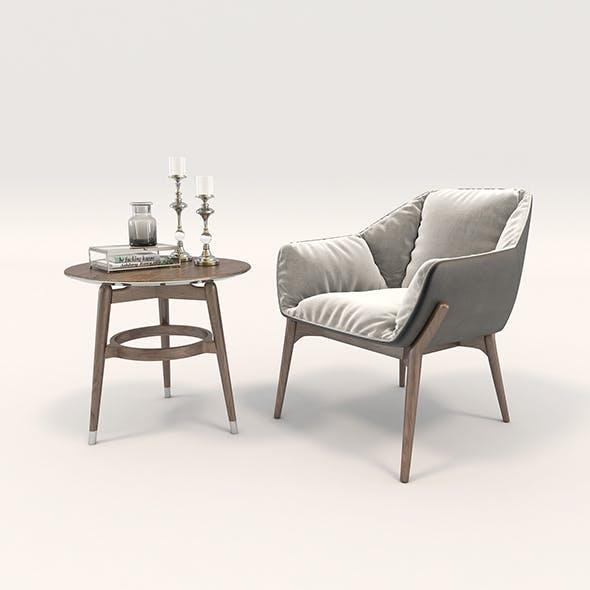 Modern Armchair Design Set 2 - 3DOcean Item for Sale