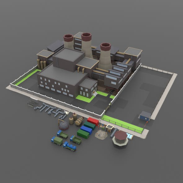 LowPoly Factory Pack