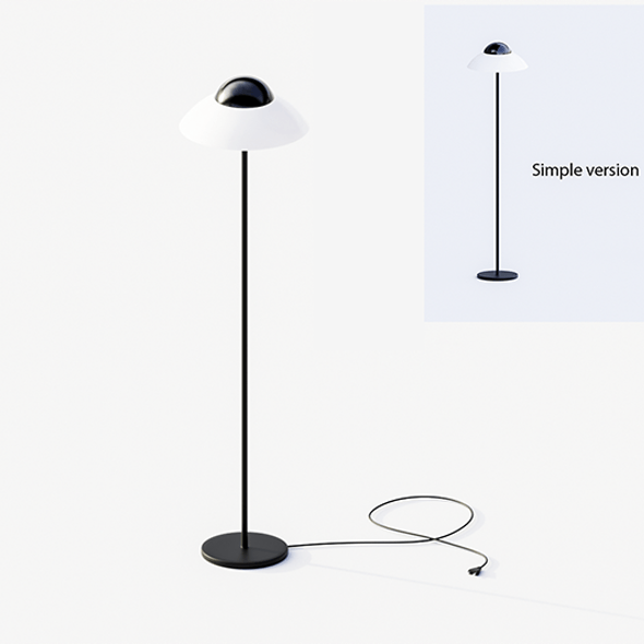 Floor lamp black and white