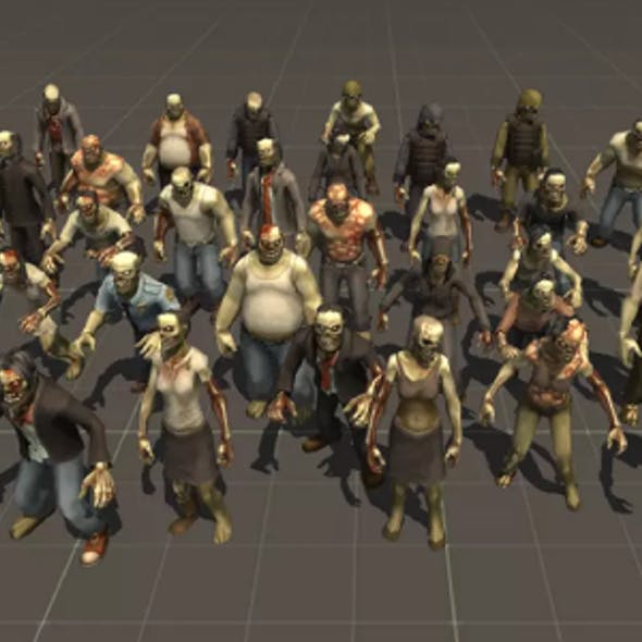 Toon Zombies unity Characters