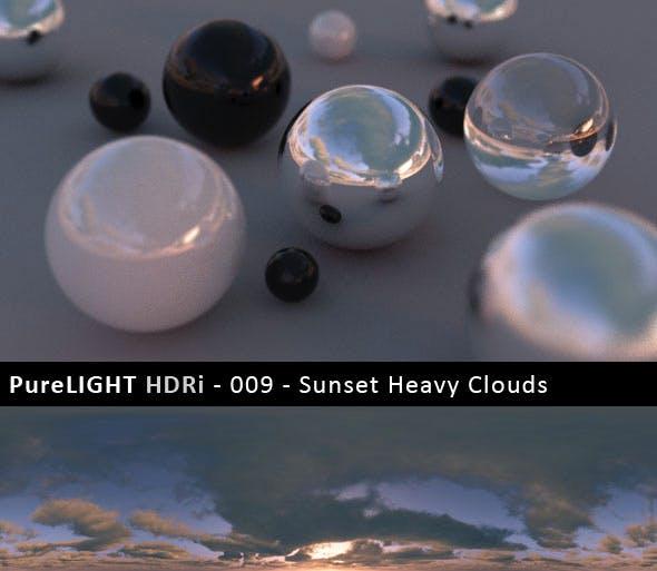 PureLIGHT HDRi 009 - Sunset Heavy Clouds - 3DOcean Item for Sale