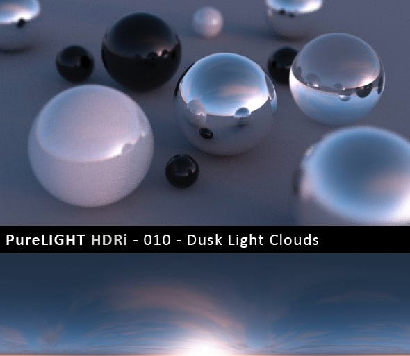 PureLIGHT HDRi 010 - Dusk Light Clouds - 3DOcean Item for Sale