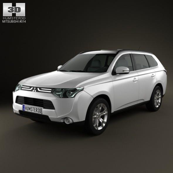 Mitsubishi Outlander 2013  - 3DOcean Item for Sale
