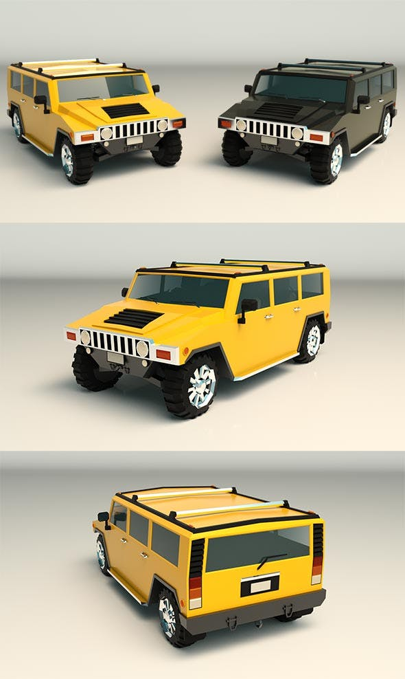 Low Poly SUV 04 - 3DOcean Item for Sale