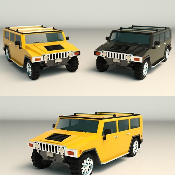 Low Poly SUV 04