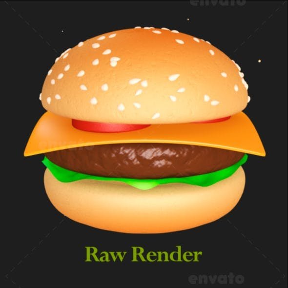 Hamburger Recipe Animated Model