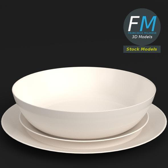 Basic dinnerware set - 3DOcean Item for Sale