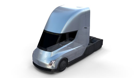 Tesla Truck with Chassis Silver - 3DOcean Item for Sale