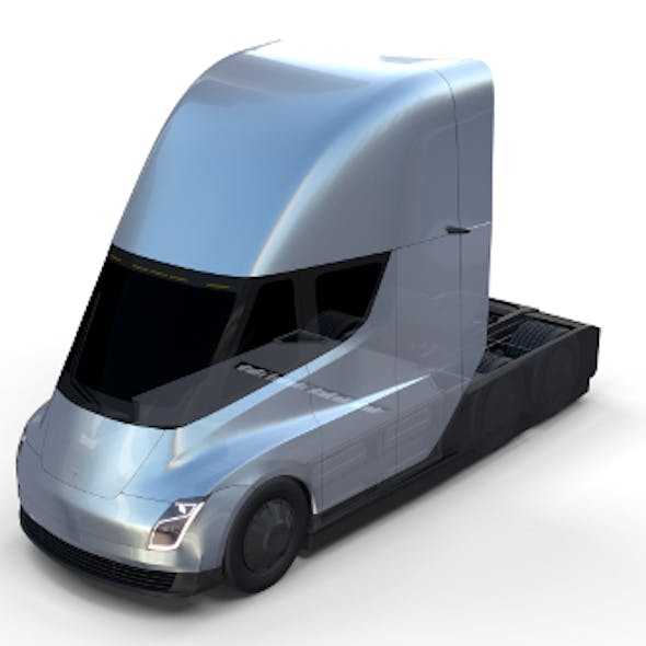 Tesla Truck with Chassis Silver