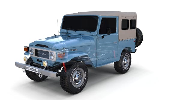 Toyota Land Cruiser FJ 40 Soft Top with Chassis - 3DOcean Item for Sale