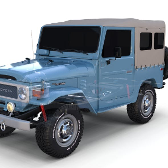 Toyota Land Cruiser FJ 40 Soft Top with Chassis