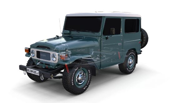 Toyota Land Cruiser FJ 40 with Chassis - 3DOcean Item for Sale