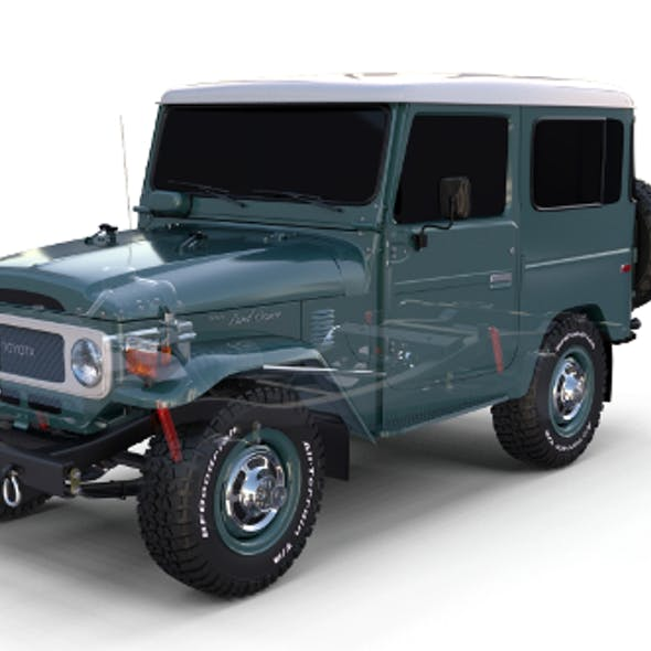 Toyota Land Cruiser FJ 40 with Chassis
