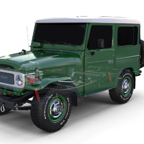 Toyota Land Cruiser FJ 40 with Chassis Green