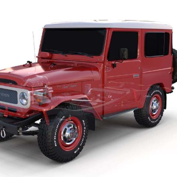 Toyota Land Cruiser FJ 40 with Chassis Red