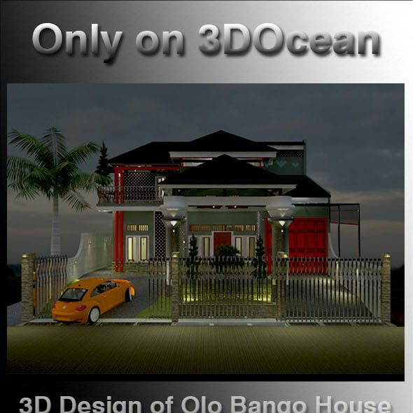 3D Design of Olo Bango House 2020