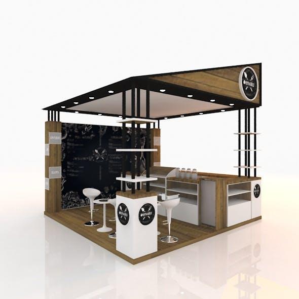 outdoor coffee shop - 3DOcean Item for Sale