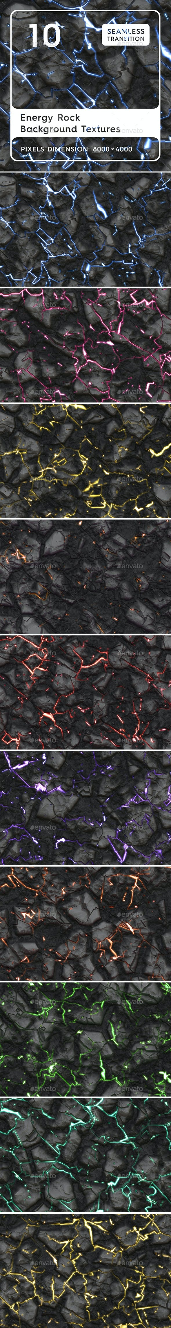 10 Energy Rock Background Textures. Seamless Transition. - 3DOcean Item for Sale
