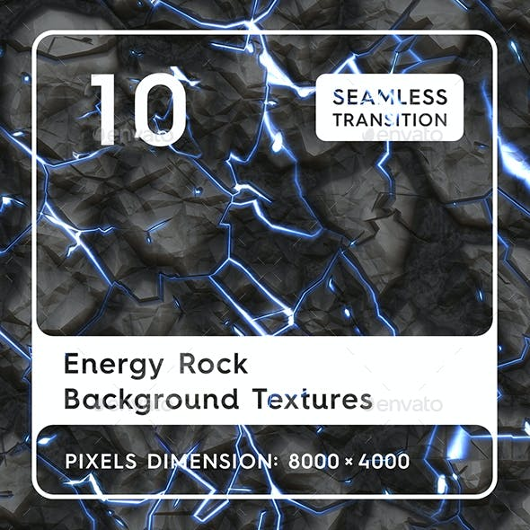10 Energy Rock Background Textures. Seamless Transition.