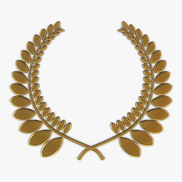 Wreath Emblem Gold v 1