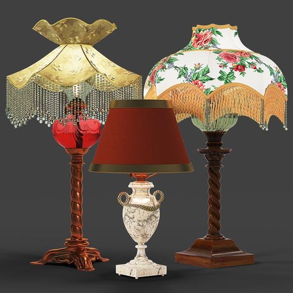 Set of vintage lamps