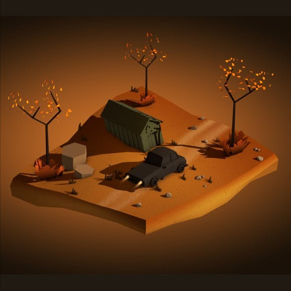 Lowpoly Game Scene