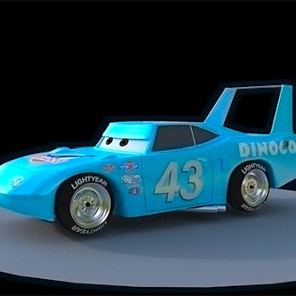 dinoco king 3d model pixar car