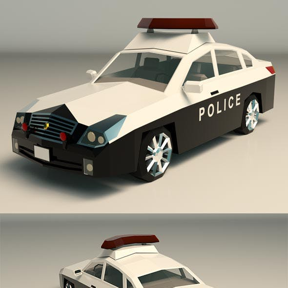 Low Poly Police Car 06