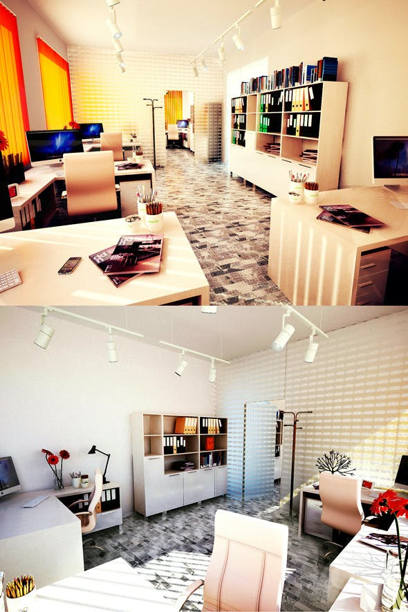 Office Interior 1 - 3DOcean Item for Sale