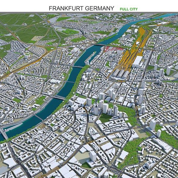 Frankfurt City Germany 3D Model 60km