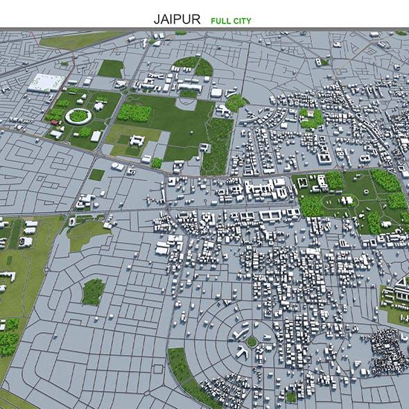 Jaipur City India 3D Model 50km