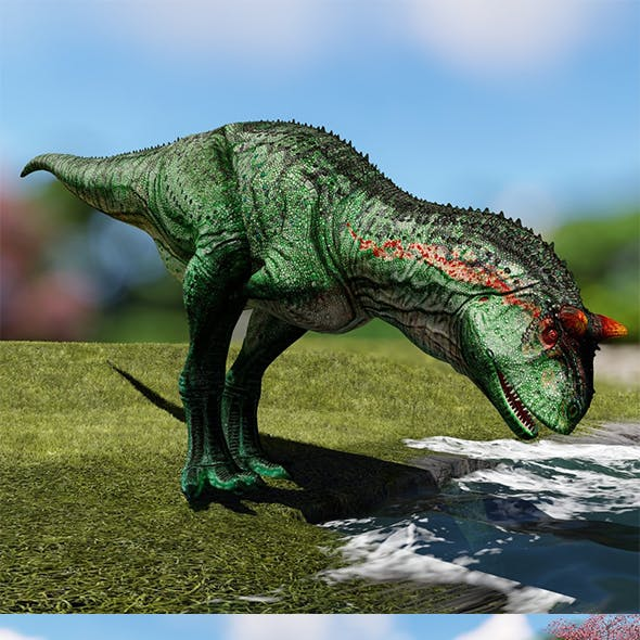 Carnotaurus low ploy 3d model