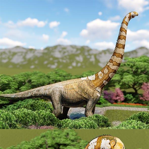 Puertasaurus lowpoly 3d model